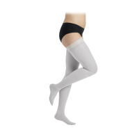Šviesiai pilkos spalvos 2 k.k. kojinės iki šlaunies viršaus moterims MAGIC COLORS by Sigvaris