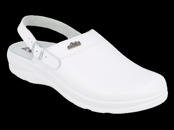 Baltos spalvos ortopedinės šlepetės Dr Orto Med 157M101
