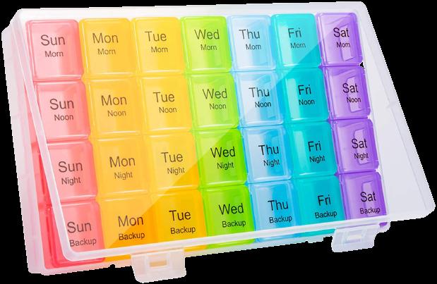 Dėžutė tabletėms savaitei PRIM 737867