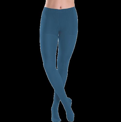 Tamsiai mėlynos spalvos kompresinės pėdkelnės moterims MAGIC COLORS by Sigvaris