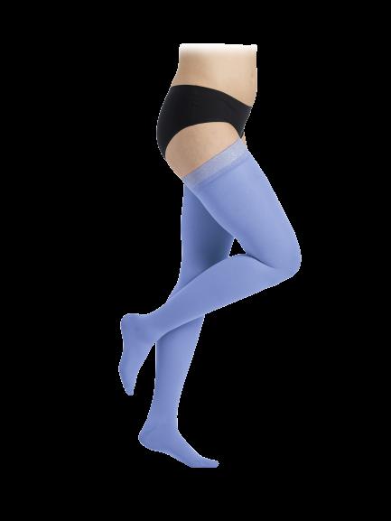 Žydros spalvos kompresinės kojinės iki šlaunies viršaus moterims MAGIC COLORS by Sigvaris