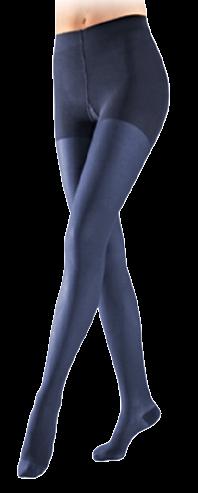 Žalsvai melsvos spalvos kompresinės pėdkelnės moterims MAGIC COLORS by Sigvaris