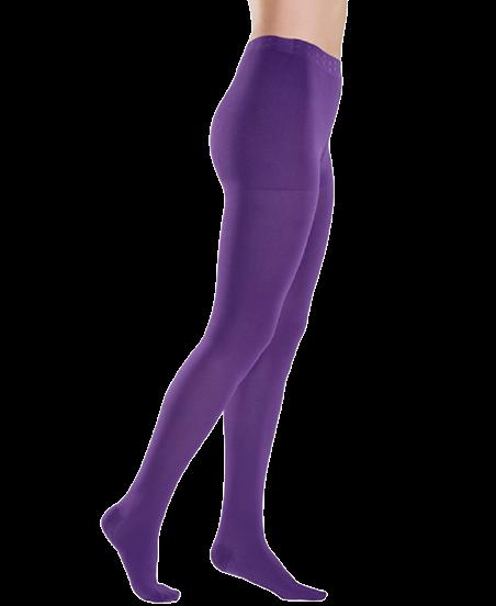 Violetinės spalvos kompresinės pėdkelnės moterims MAGIC COLORS by Sigvaris