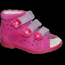 Rožinės spalvos vaikiškos basutės DAWID 1042