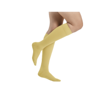 Geltonos spalvos kompresinės kojinės iki kelių moterims MAGIC COLORS by Sigvaris