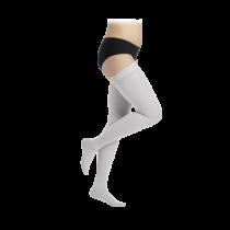 Šviesiai pilkos spalvos kompresinės kojinės iki šlaunies viršaus moterims MAGIC COLORS by Sigvaris