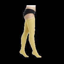 Geltonos spalvos kompresinės kojinės iki šlaunies viršaus moterims MAGIC COLORS by Sigvaris