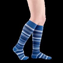 Dryžuotos moteriškos kompresinės kojinės MICROFIBER SHADES by SIGVARIS
