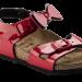 Blizgios raudonos spalvos vaikiškos basutės Birkenstock 1005433