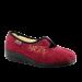Raudonos spalvos moteriškos šlepetės su vilna 940D355