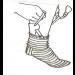 Pagalbinė priemonė kojinėms užsimauti 3